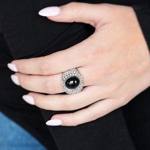 Glitter Go Getter Black Ring